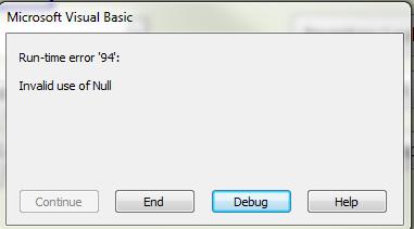 null error