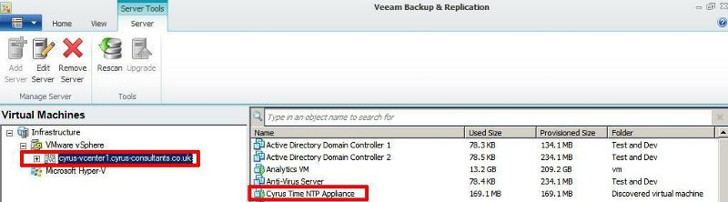 Show Virtual Machines registered on vCenter Server