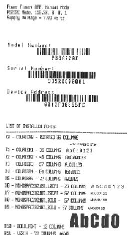 apex 3 self test print