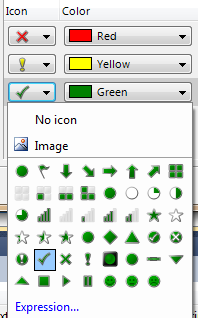 The Indicator ships with several different icons to be used