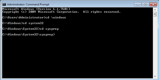 How can I get around the sysprep fatal error for windows 7