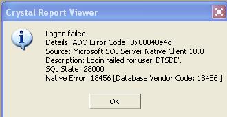 Crystal reports XI and VB6 & SQL Server2008 R2