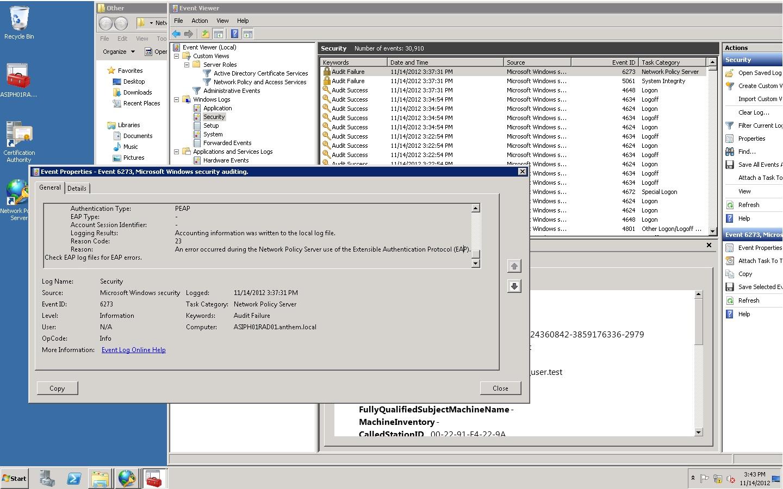 SOLUTION] Win2k8 R2 RADIUS 802 1x PEAP with Windows XP SP3