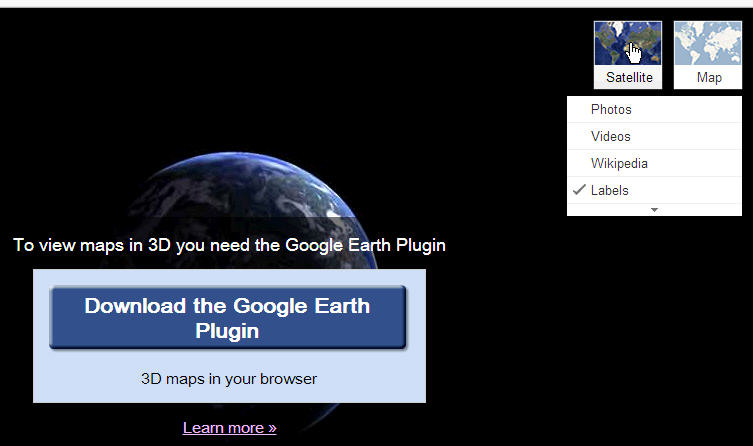 Google Earth Plugin is not working properly in Chrome