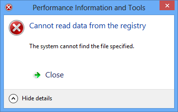 Performance Rating and Tools Error