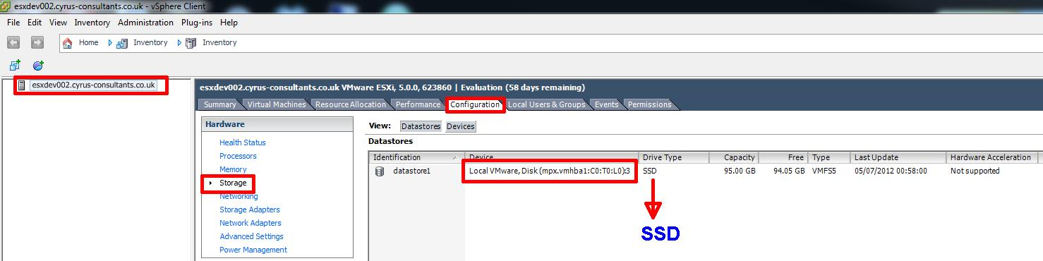 HOW TO: Tag and Configure a storage device as a Solid State Disk