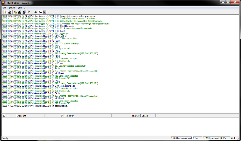 FTP Server Log