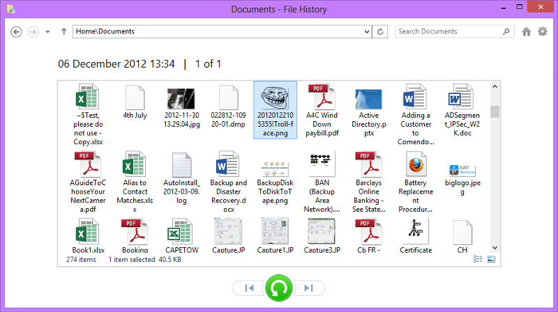 File History View