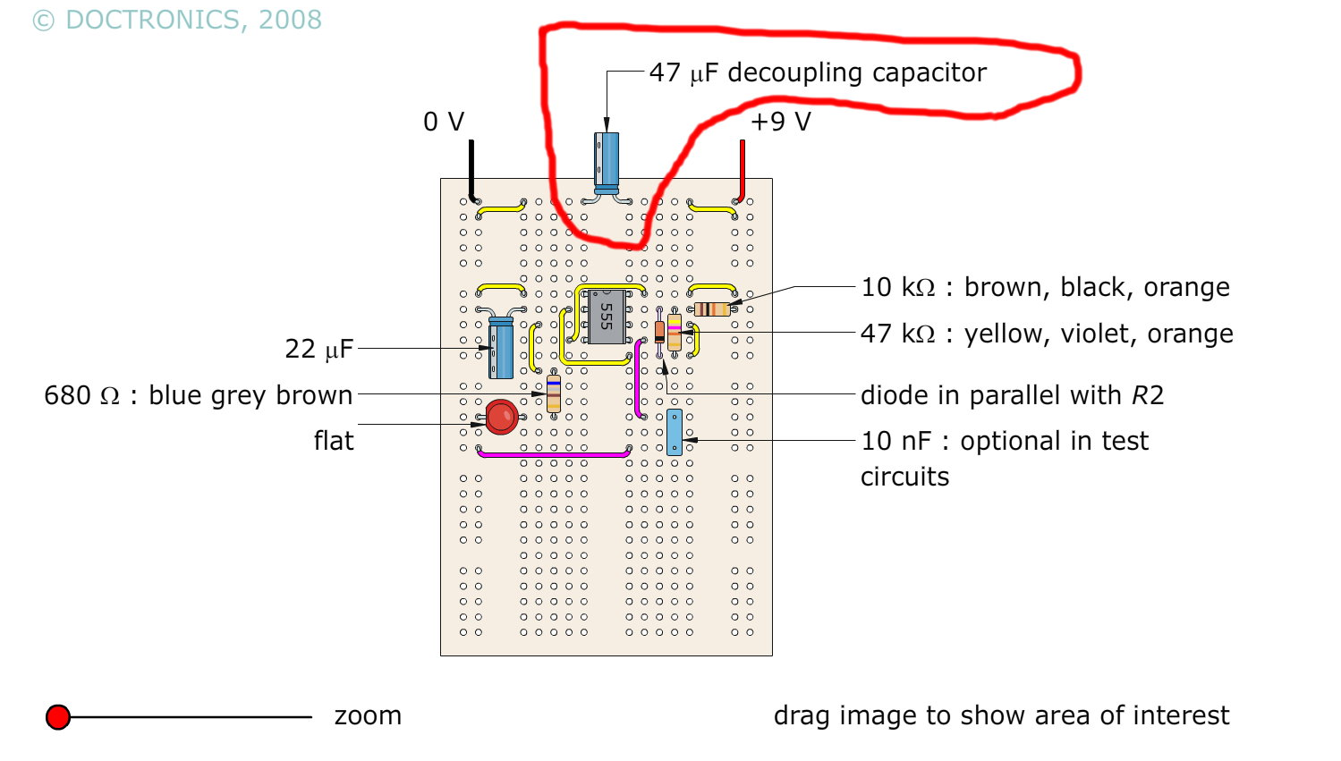 Simple Intermittent Beep Circuit Circuits With Capacitors You Do Not See Any Label Because It Is Supposed That Understand The Functionality Of And From There Know How Current Flows In