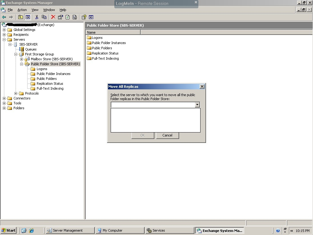 Sbs2003 To Sbs2011 Issue Moving Public Folder Store