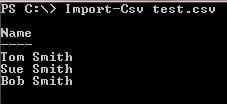 Import-CSV