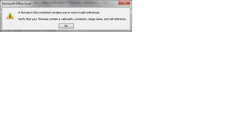 error pop up
