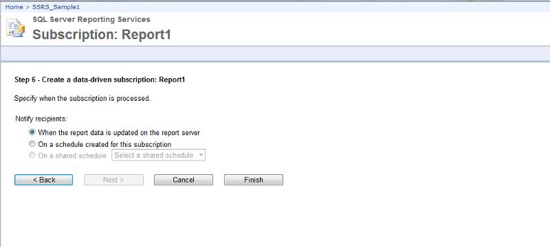 Schedule report