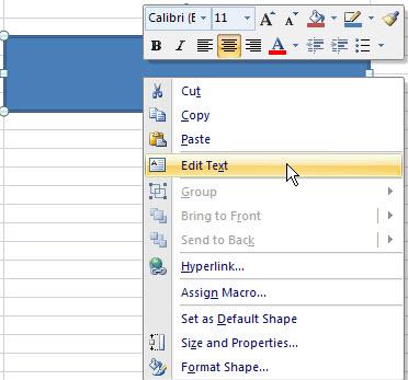 context menu edit text