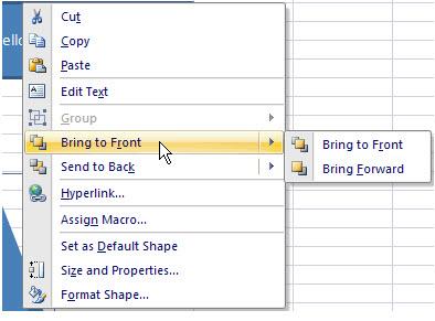 bring to front context menu
