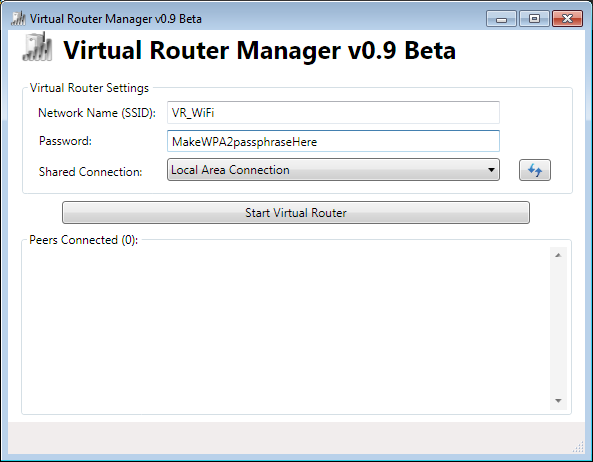 Virtual Router Initial Setup