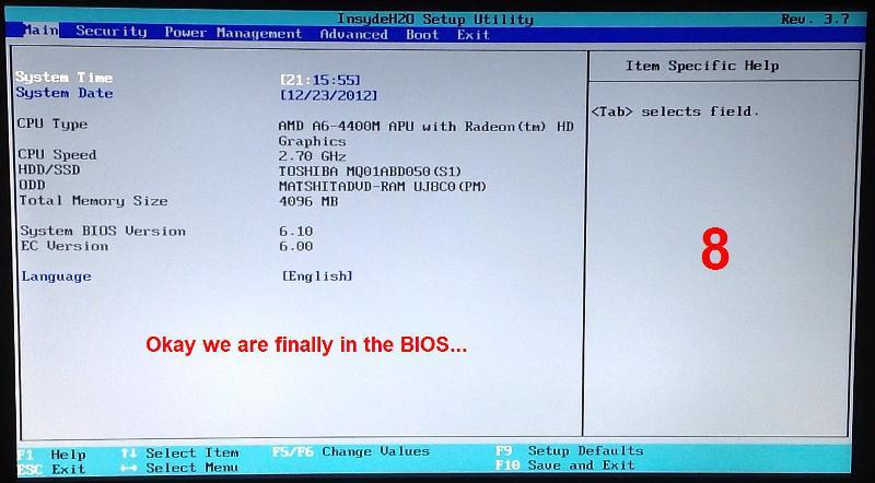 8. BIOS Main