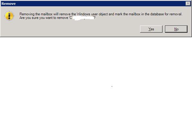Mailbox Removal Warning