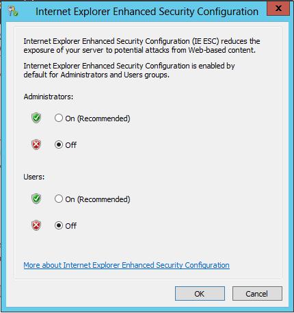 IE Enhanced Security