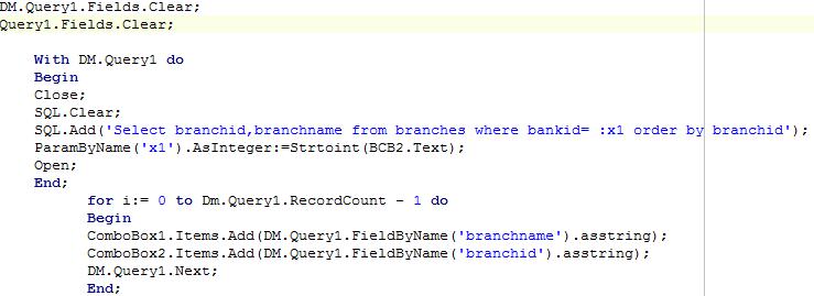 piece of code
