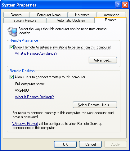 XP Pro - Enable Remote Access Inbound