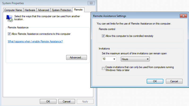 Win7 Home - Enable Remote Access Inbound