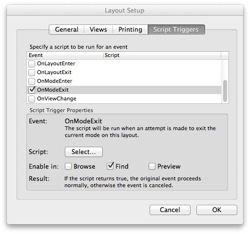 OnModeExit Script Trigger