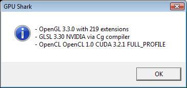 OpenGL/OPenCL in GPUShark