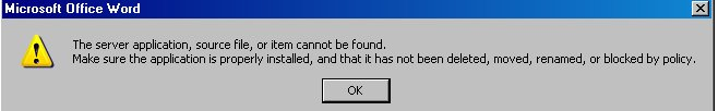 Error opening embedded URL