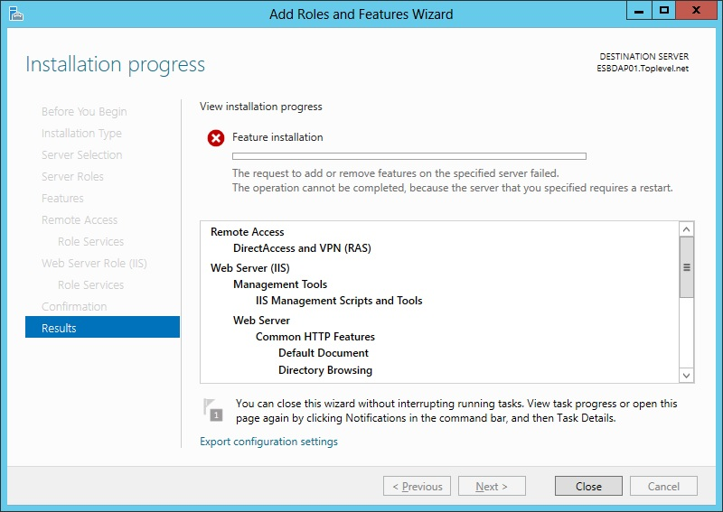 Direct Access on Server 2012