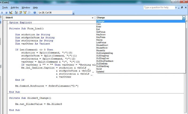 Slider code