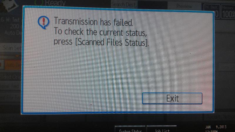 Authentication error