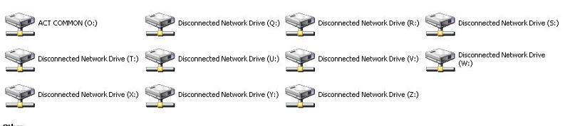 Disconnected drives