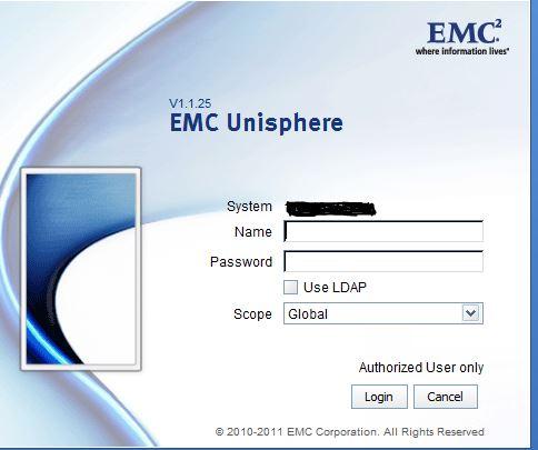 I Lost Global User Account Password for EMC VNX 5300