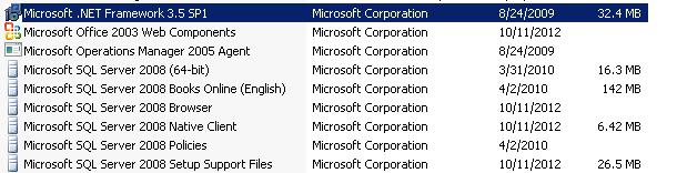 .NET Installed
