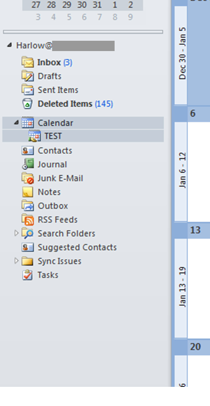 My Outlook Folder List