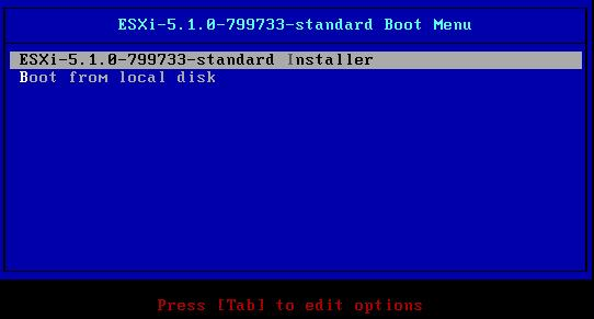 ESXi 5.1 BOOT from CDROM