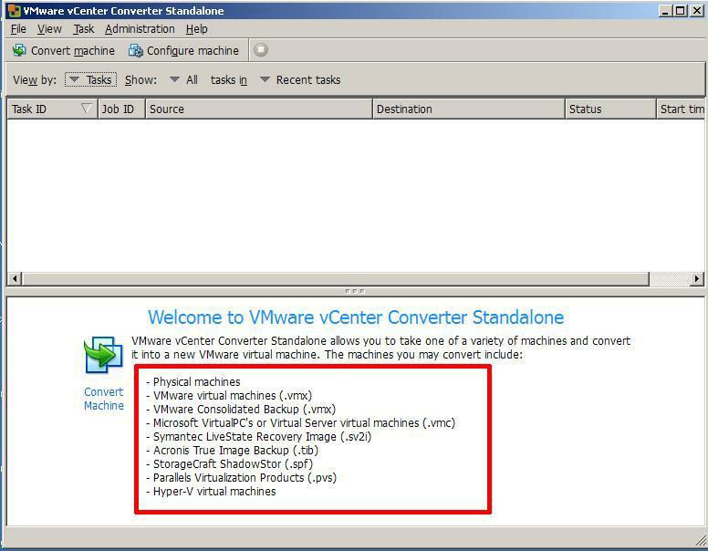 VMware vCenter Converter Standalone 5.0