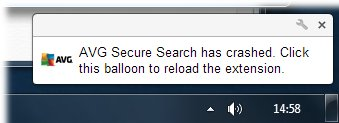 AVG  secure stopped