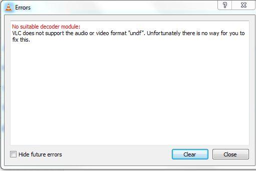 VLC error