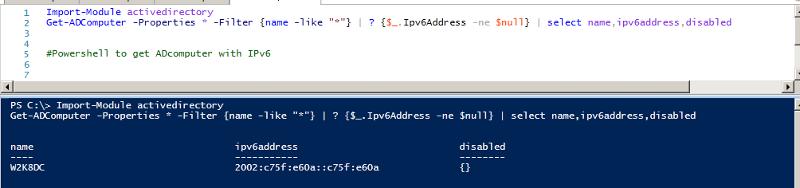 IPv6 PS Script