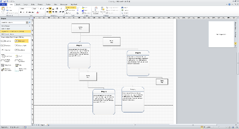Visio Custom Org shape auto connect