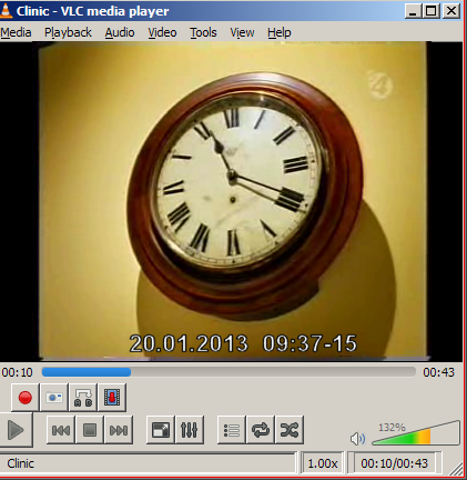 Date/Time stamp overlay in VLC Player