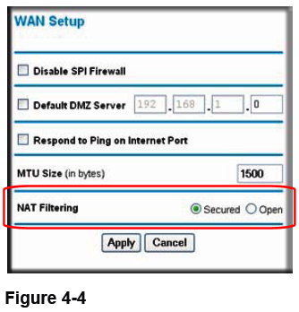 WNR2000 - WAN Setup - NAT Filtering