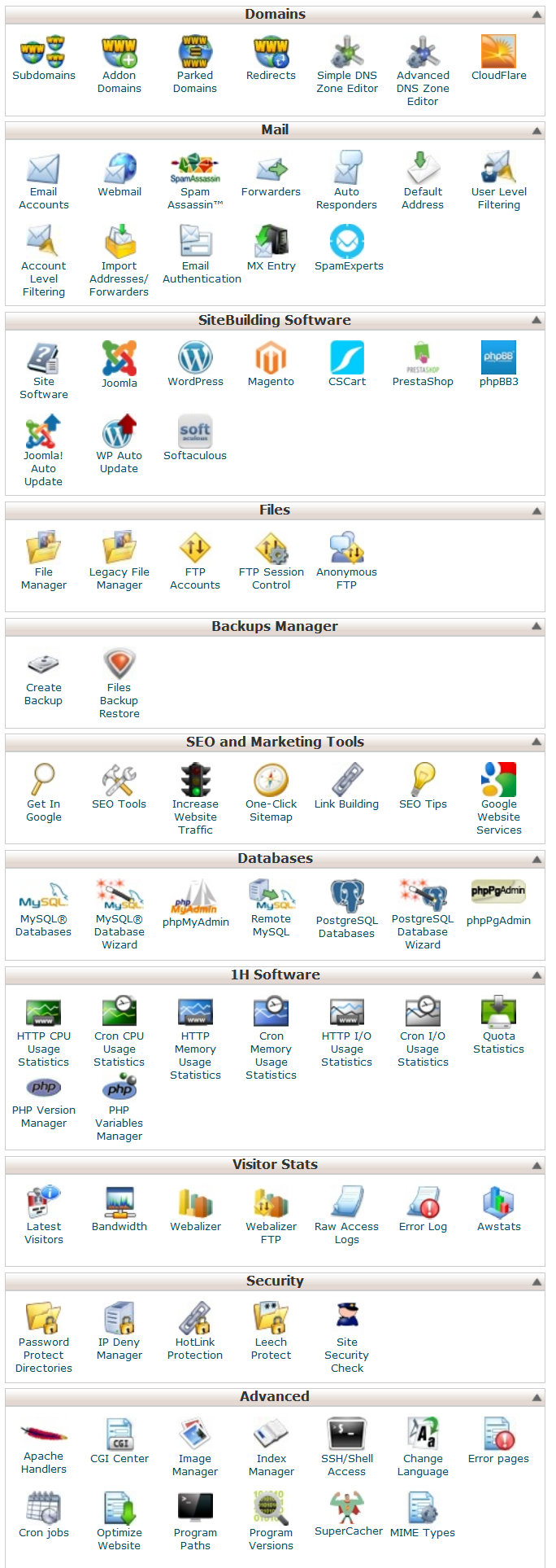 cpanel makes changes easy