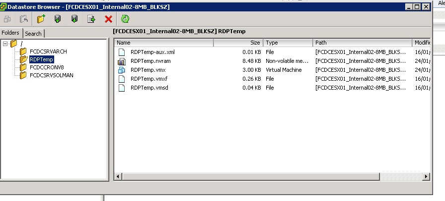 Transferred Vmdk and Vmx files to new datastore  How do I