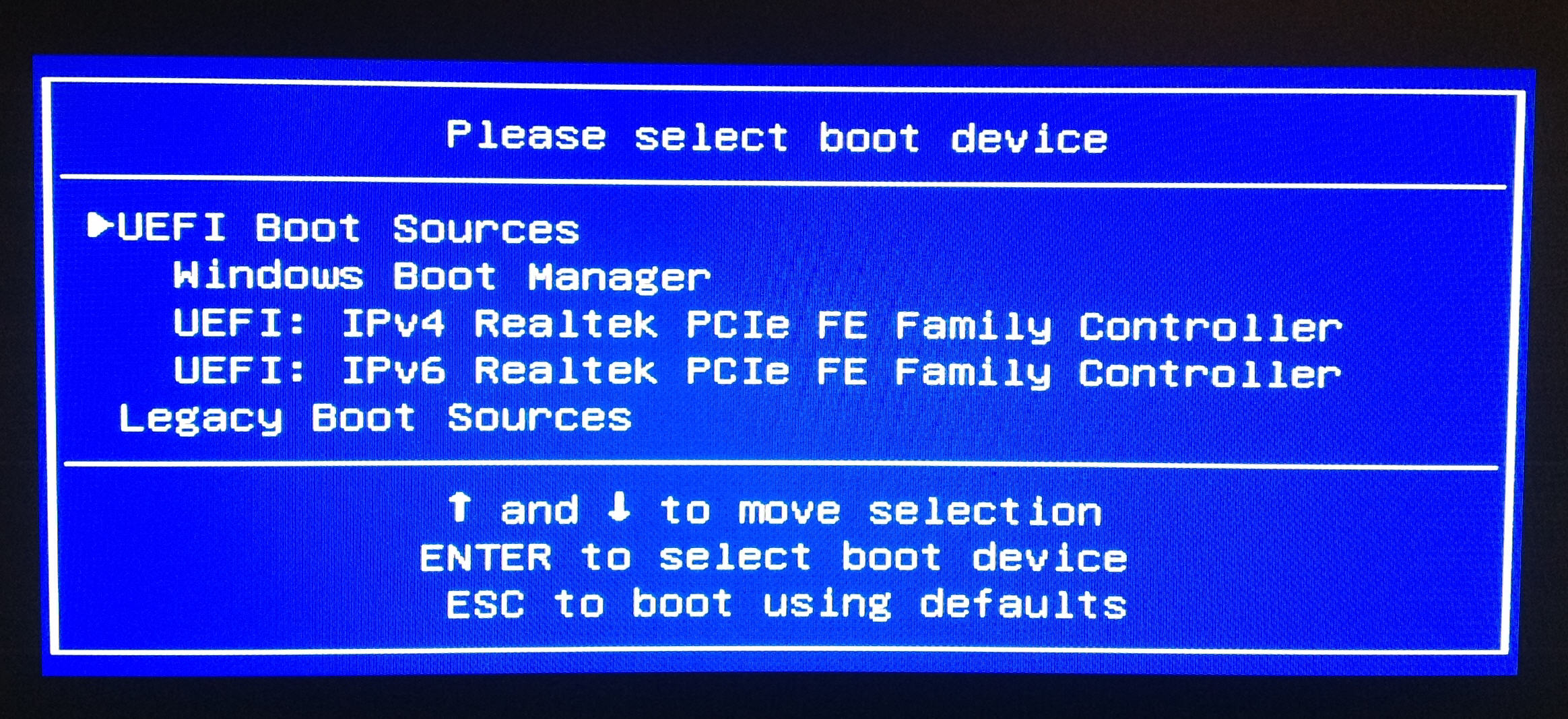 how to get to boot menu
