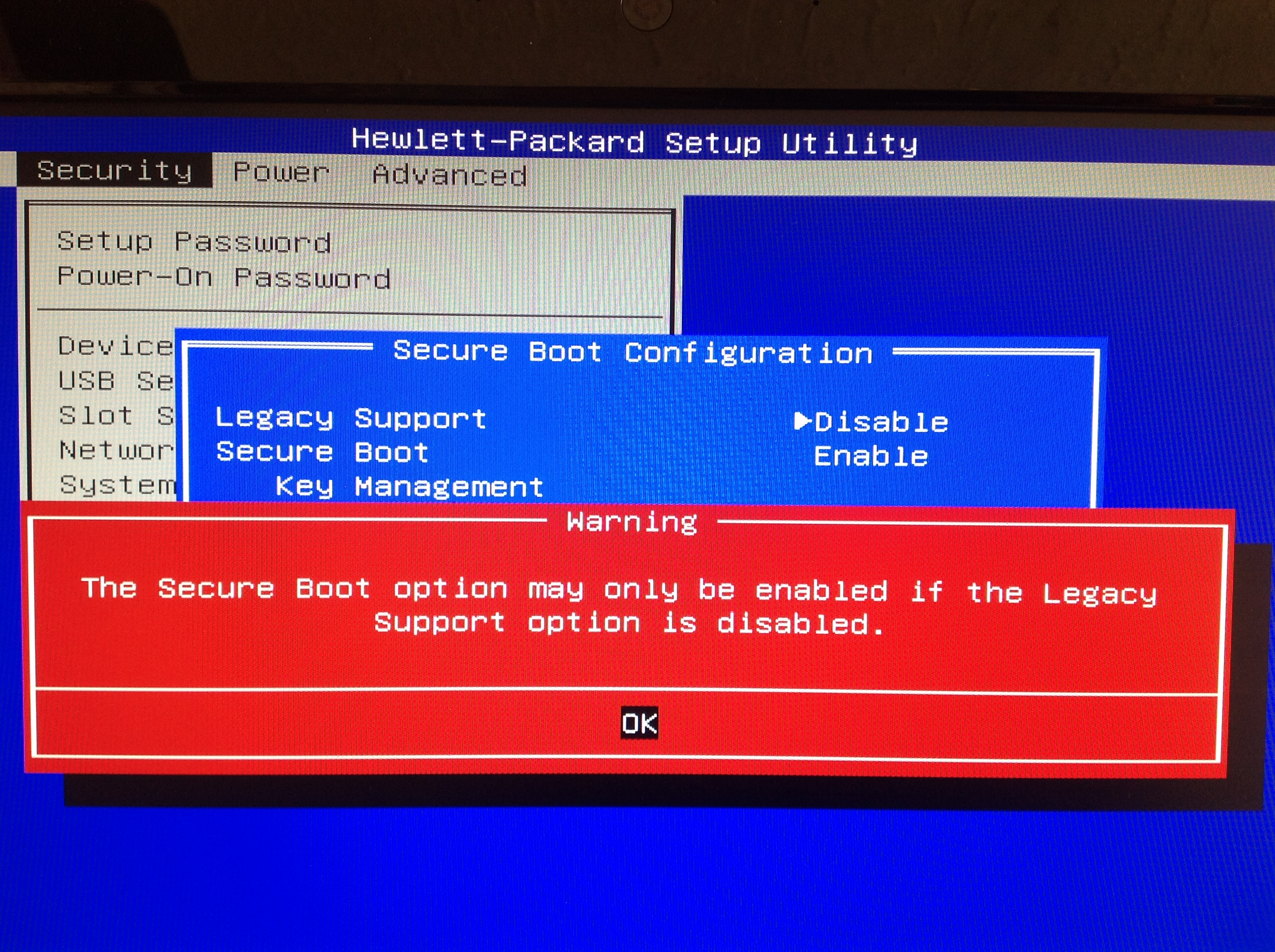 Not able to boot