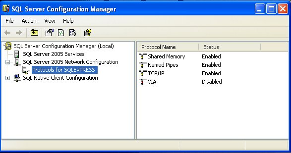 SQL TCP/IP settings