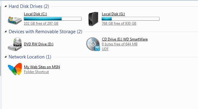 WD 1 TB with Virtual CD rom